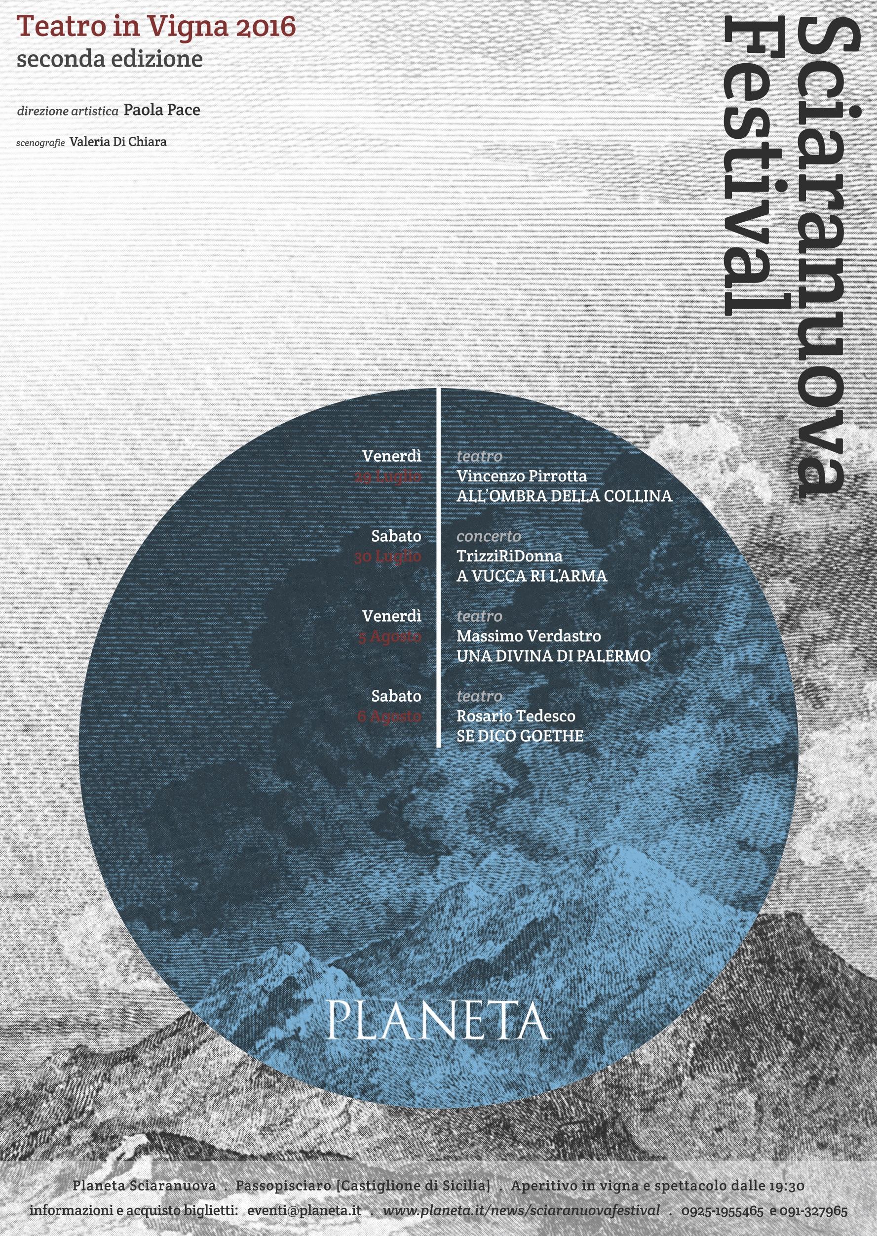 sciaranuova festival teatro in vigna planeta